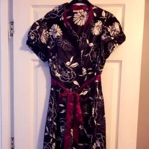 Floral Silk Like Cato Belted Dress 16W